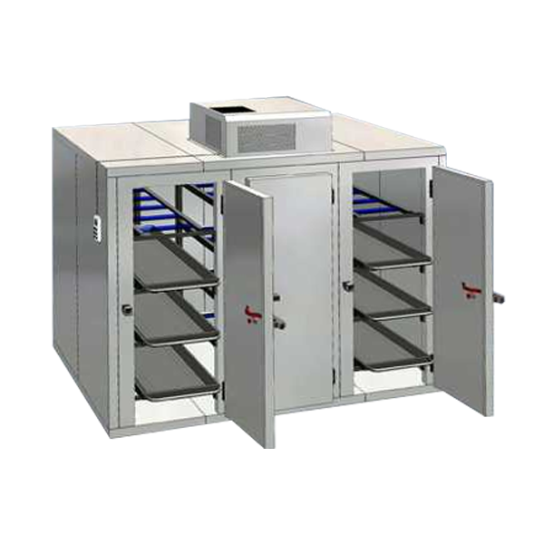12 Bodies 3 Door Mortuary Chamber With Wall Mount Motor