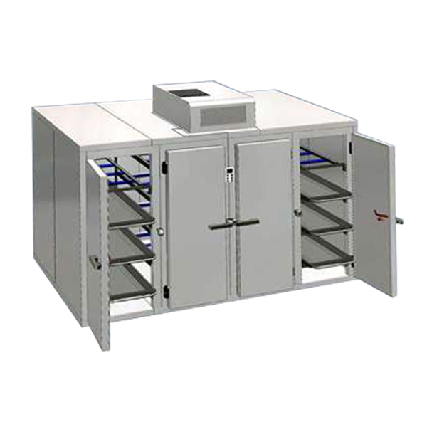 16 Bodies 4 Door Mortuary Chamber Package With Wall Mount Motor